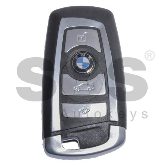 Смарт ключ за BMW F-Series с 4 бутона 868MHz HITAG PRO Keyless Go