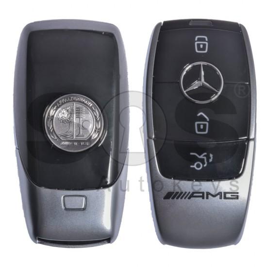 (Пакет) 2x  смарт ключ за Mercedes-benz  E200/ E300/ W213/ AMG с 3 бутона 434MHz HU64