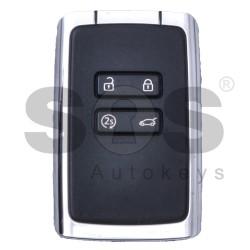 Смарт ключ карта с 4 бутона 433 MHz за Renault Espace Keyless GO