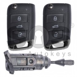 Комплект за Volkswagen Touran с 3 бутона 433MHz Keyless Go