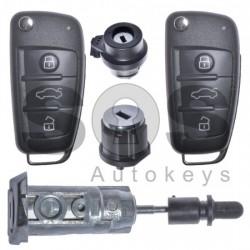 Оригинален комплект за Audi RS 434 Mhz с 3 бутона