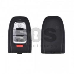 Празна кутийка за ключ за Audi с 3+1 бутона - HU 66 - задна част