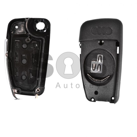 Кутийка за ключ (сгъваем) за  Audi A4/A6/A8 с 3 бутона - HU 66