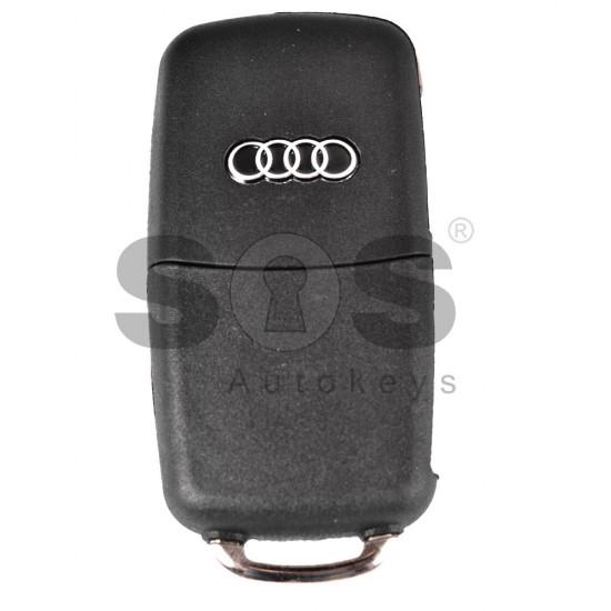 Кутийка за ключ (сгъваем) за Audi A8 с 3 бутона - HU66