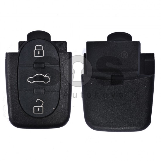 Кутийка за ключ (сгъваем) за VAG с 3 бутона - HU 66 - долна част