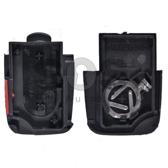 Кутийка за ключ (сгъваем) за VAG с 2+1 бутона - HU66 - долна част