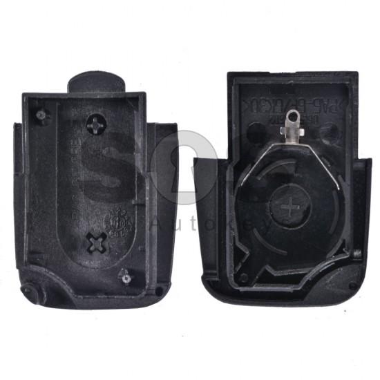 Кутийка за ключ (сгъваем) за VAG с 2 бутона - HU 66 - задна част
