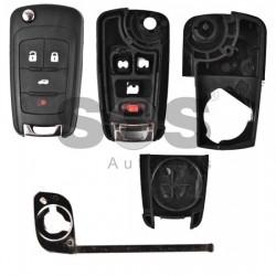 Kутийка за ключ (сгъваем) за Chevrolet с 3+1 бутона - HU100
