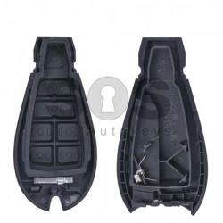 Кутийка за ключ (смарт) за Chrysler / Dodge / Jeep с 3+1 бутона - CY24 - Рибка