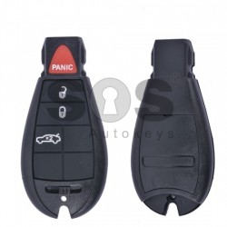 Кутийка за ключ (смарт) за Chrysler с 3+1 бутона - CY 24 - (Рибка)