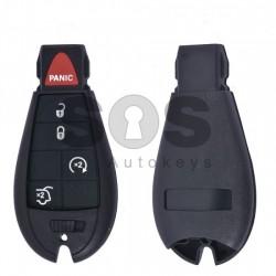 Кутийка за ключ (смарт) за Chrysler / Dodge / Jeep с 4+1 бутона - CY24 - Рибка