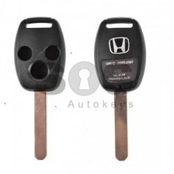 Кутийка за ключ (стандартен) за Honda с 3 бутона - HON66
