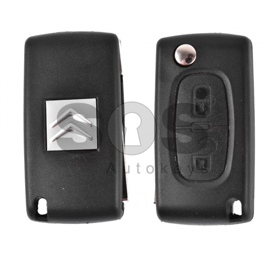 Кутийка за ключ (сгъваем) за PSA с 2 бутона - VA2 - с батерия