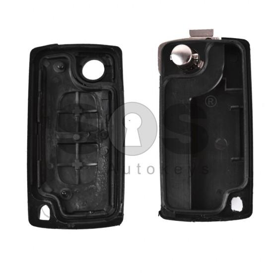Кутийка за ключ (сгъваем) за PSA с 2 бутона - HU83 - без батерия