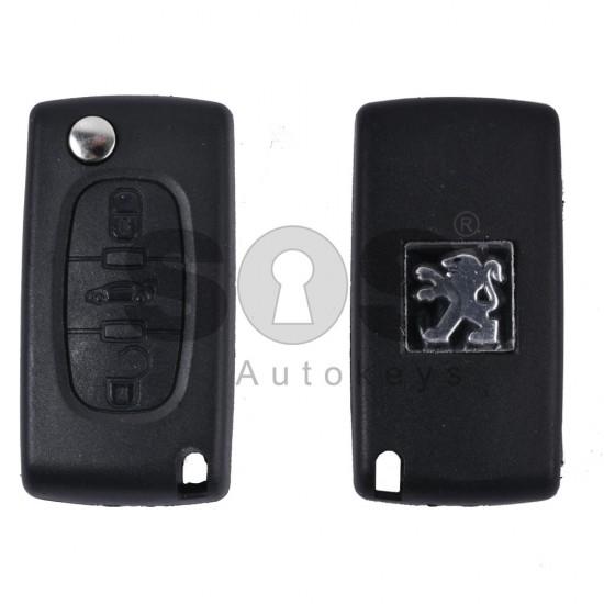 Кутийка за ключ (сгъваем) за PSA с 3 бутона - VA2 - с батерия