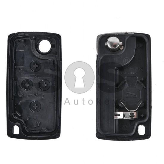 Кутийка за ключ (сгъваем) за PSA с 4 бутона - HU83 - с батерия