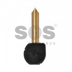 Кутийка за ключ (сгъваем) за Citroen с 2 бутона - SX9 - с държач за батерия
