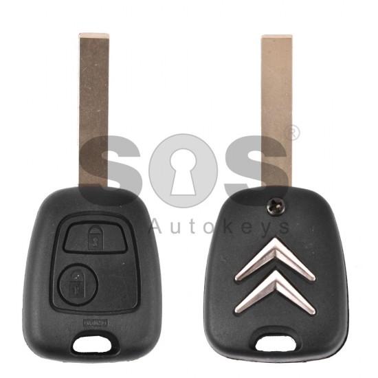 Кутийка за ключ (стандартен) за Citroen с 2 бутона - HU83