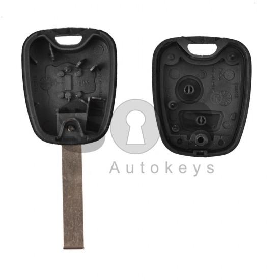 Кутийка за ключ (стандартен) за Citroen с 2 бутона - VA2