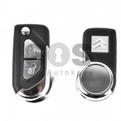 Кутийка за ключ (сгъваем) за Citroen DS3 с 2 бутона