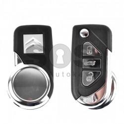 Кутийка за ключ (сгъваем) за Citroen DS3 с 3 бутона
