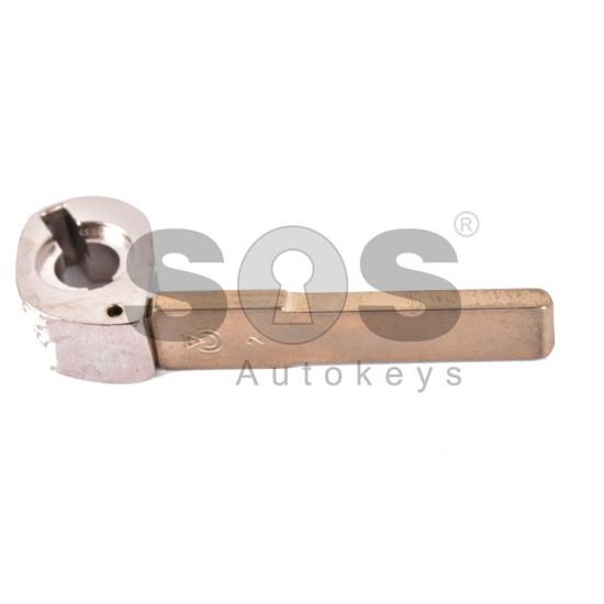 Кутийка за ключ (сгъваем) за Fiat Bravo с 2 бутона - SIP22 - с държач за батерия