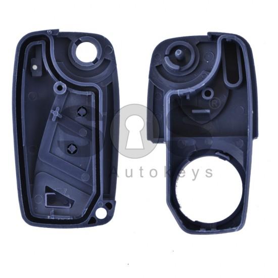 Кутийка за ключ (сгъваем) Fiat Ducato с 3 бутона - SIP22 - син цвят