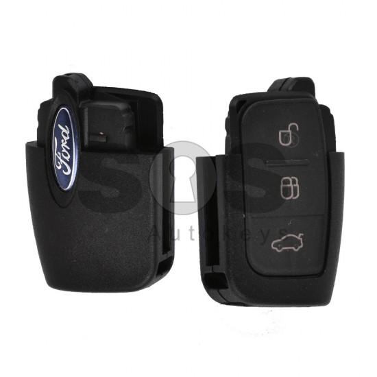 Кутийка за ключ (сгъваем - задна част) за Ford с 3 бутона - FO21 / HU101