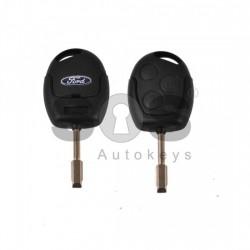 Кутийка за ключ (стандартен) за Ford с 3 бутона - FO 21 - Черна