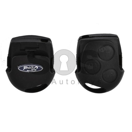 Кутийка за ключ (стандартен - задна част) за Ford с 3 бутона - FO21 / HU101
