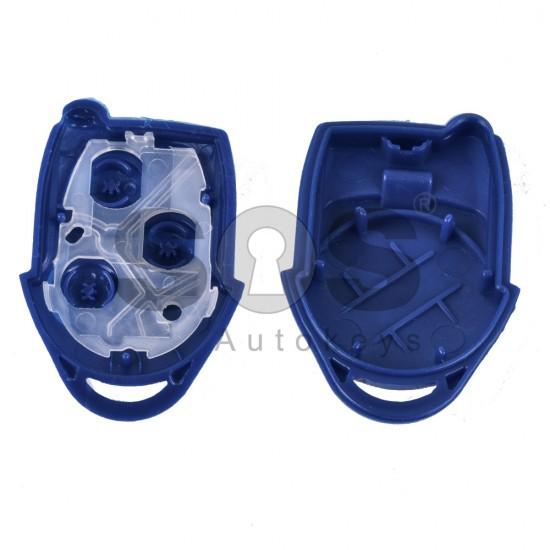 Кутийка за ключ (стандартен - задна част) за Ford с 3 бутона - FO21 - Синя