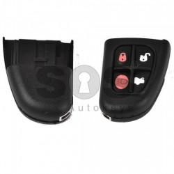 Кутийка за ключ (сгъваем - задна част) за Jaguar с 4 бутона - FO21
