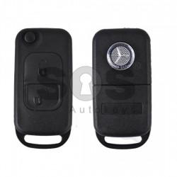 Кутийка за ключ (сгъваем) за Mercedes A-Class с 2 бутона