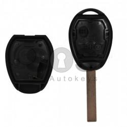 Кутийка за ключ (стандартен) за Mini Cooper One с 2 бутона - HU 92 - С накрайник