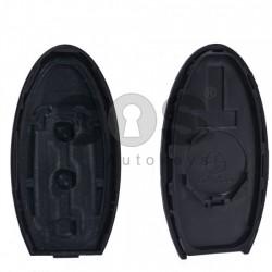 Кутийка за ключ (смарт) за Nissan с 3 бутона - NSN14 - с лого