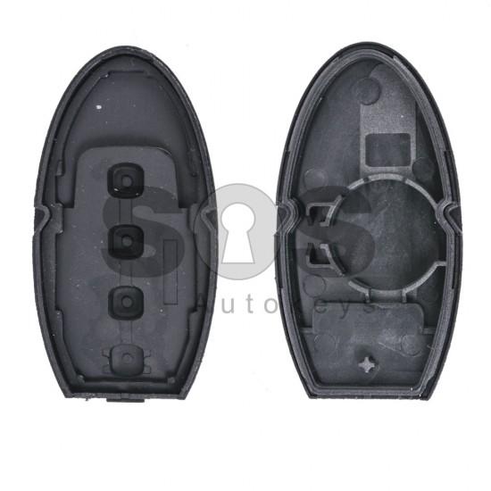 Кутийка за ключ (смарт) за Nissan X-Trail с 3+1 бутона - NSN14 - без накрайник