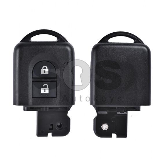 Кутийка за ключ (смарт - задна част) за Nissan Micra/Qashqai с 2 бутона - NSN14 - без накрайник