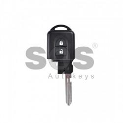 Кутийка за ключ (смарт - задна част) за Nissan Micra/Qashqai с 2 бутона - NSN14 - с накрайник