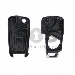 Кутийка за ключ (сгъваем) за Opel Astra/Insignia/Corsa с 2 бутона - HU100 - с накрайник