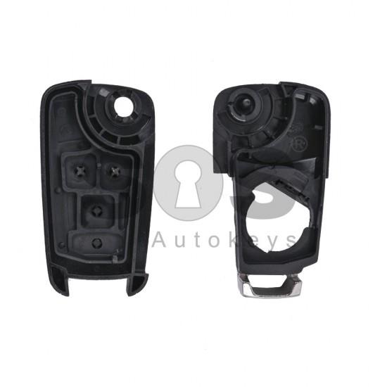 Празна кутийка за ключ за Opel Astra/Insignia/Corsa с 2 бутона - HU 100