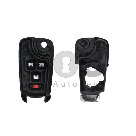 Кутийка за ключ (сгъваем) за Opel Astra J с 3+1 бутона - HU100 - с накрайник