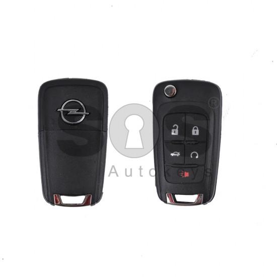 Кутийка за ключ (сгъваем) за Opel с 4+1 бутона - HU100 - с накрайник