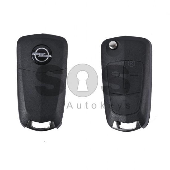 Кутийка за ключ (сгъваем) за Opel Antara/Corsa/Vectra с 2 бутона - YM27 - с накрайник