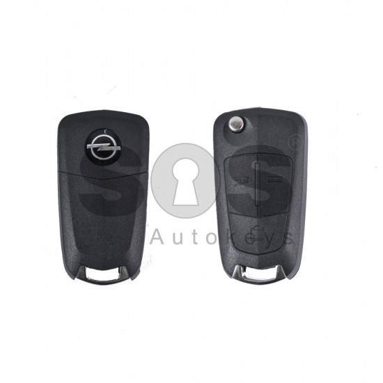 Кутийка за ключ (сгъваем) за Opel Antara с 3 бутона - YM27 - с накрайник