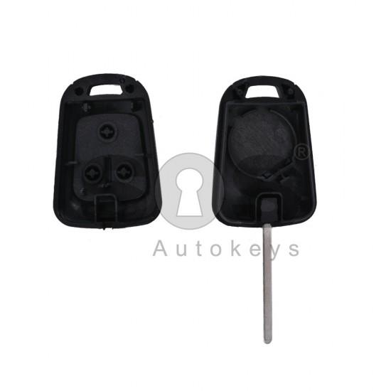 Кутийка за ключ (стандартен) за Opel Astra/Insignia с 2 бутона - HU100 - с накрайник