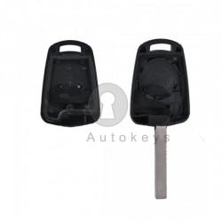 Кутийка за ключ (стандартен) за Opel Astra/Corsa с 2 бутона - HU100 - с накрайник