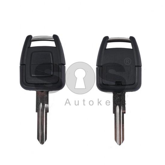 Кутийка за ключ (стандартен) за Opel Astra/Vectra/Zafira с 2 бутона - HU46 - с накрайник