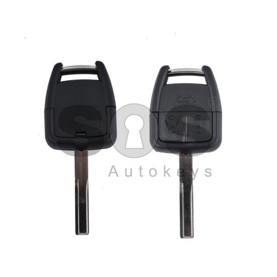 Кутийка за ключ (стандартен) за Opel Vectra с 3 бутона - YM27 - с накрайник