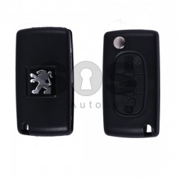 Кутийка за ключ (сгъваем) за Peugeot 408 с 3 бутона - NE78