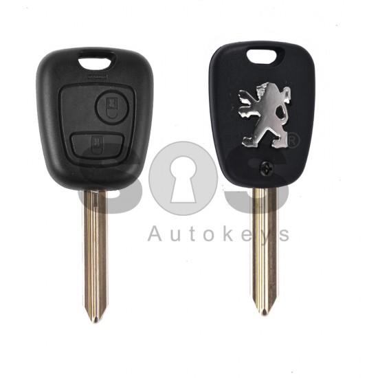 Кутийка за ключ (стандартен) за Peugeot с 2 бутона - SX9